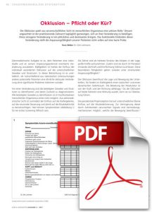 pdf DENTAL BAROMETER AUSGABE 6 I 2017 - Okklusion - Pflicht oder Kür?